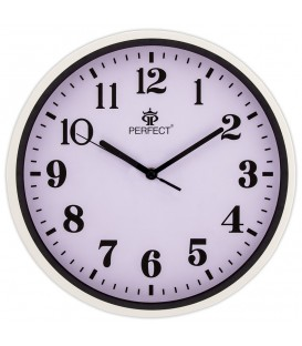 Zegar ścienny analogowy Perfect N12 Biały