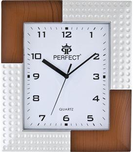 Zegar ścienny analogowy Perfect 5682 Srebrny