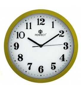 Zegar ścienny analogowy Perfect 813 Złoty