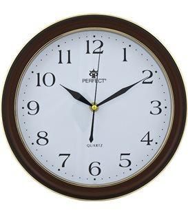 Zegar ścienny analogowy Perfect LC 17 Ciemny brąz
