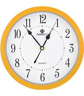 Zegar ścienny analogowy Perfect MQ 17 Zółty