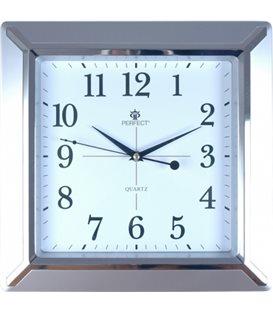 Zegar ścienny analogowy Perfect PW 012 Srebrny