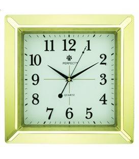 Zegar ścienny analogowy Perfect PW 012 Złoty