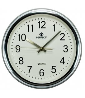 Zegar ścienny analogowy Perfect PW 158 Srebrny