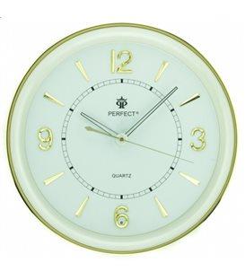 Zegar ścienny analogowy Perfect PW 164 Złoty