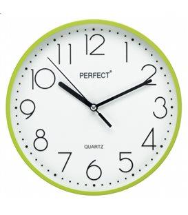 Zegar ścienny analogowy Perfect FX-5814 Zielony