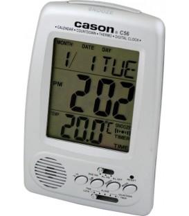Budzik Kwarcowy LCD Cason C 56