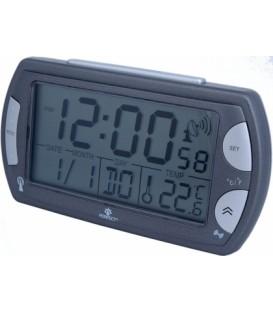 Budzik Kwarcowy LCD Perfect R358 DCF srebrny