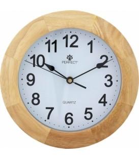 Zegar ścienny analogowy Perfect PW 994 Jasny brąz
