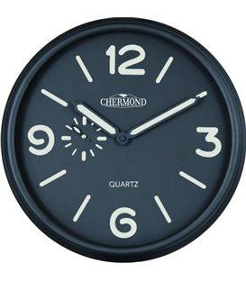 Zegar ścienny analogowy Chermond 9849 fluorestencyjne wskazówki