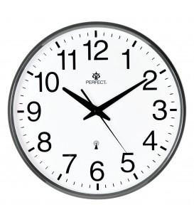 Zegar ścienny analogowy Perfect SWR 684 DCF grafitowy Radio Controll