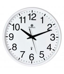 Zegar ścienny analogowy Perfect SWR 684 DCF biały Radio Controll
