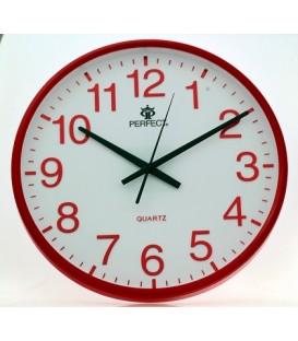 Zegar ścienny analogowy Perfect SWL 684 czerwony