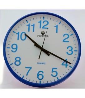 Zegar ścienny analogowy Perfect SWL 684 niebieski