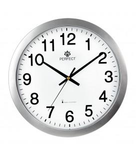 Zegar ścienny analogowy Perfect WR 611 Srebrny