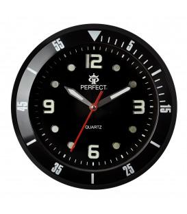 Zegar ścienny analogowy Perfect 825 Czarny