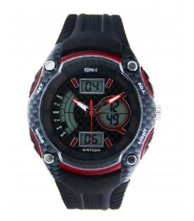 ZEgarek naręczny Oceanic AD943 czarny z czerwonym