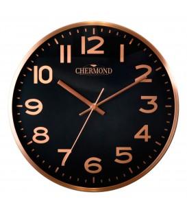 Zegar ścienny analogowy Perfect WL 689A Różowa tarcza czarne cyfry