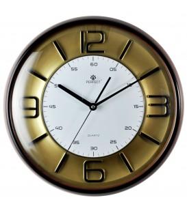 Zegar ścienny analogowy Perfect FX-831 złota tarcza