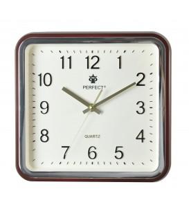 Zegar ścienny analogowy Perfect PW 159 Ciemny brąz