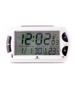 Budzik Kwarcowy LCD Perfect R358 DCF BIAŁY