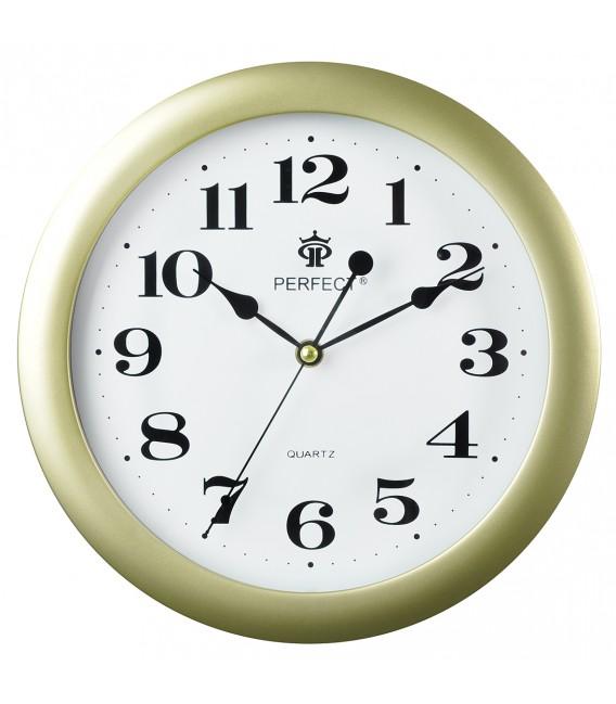 Zegar ścienny Perfect LA złoty błysk