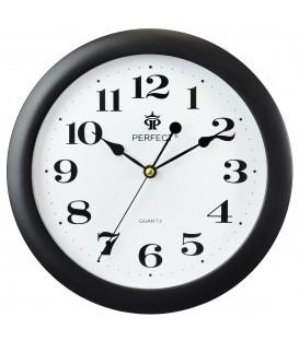 Zegar ścienny Perfect LA srebrny błysk