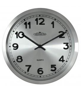 Zegar ścienny analogowy Chermond 7120 CS srebrny