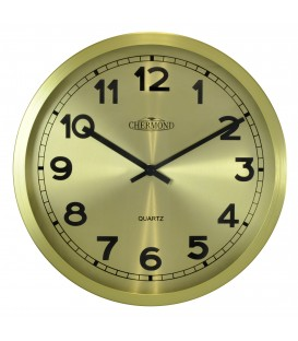 Zegar ścienny analogowy Chermond 7120 CG złoty