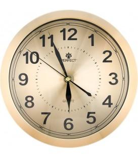 Zegar ścienny analogowy Perfect PW 191  złoty Ø 25