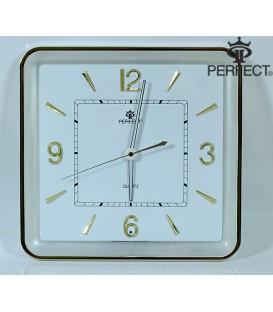 Zegar ścienny analogowy Perfect PW 165 biała tarcza