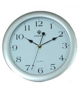 Zegar ścienny analogowy Perfect LA 17 Srebrny mat