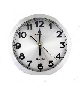 Zegar ścienny analogowy Perfect PW 191 srebrny