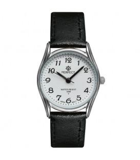 Zegarek Perfect pasek standard B7389 IPS biała tarcza czarny pasek