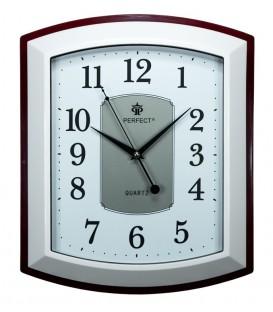 Zegar ścienny analogowy Perfect PW 013 Brązowo/biały WYS-36,SZER-30