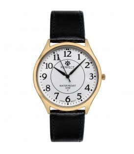 Zegarek Perfect pasek standard B7381 IPG biała tarcza brązowy pasek