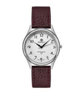Zegarek Perfect pasek standard B7383 IPG złota tarcza brązowy pasek