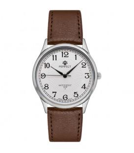 Zegarek Perfect pasek standard B7384 IPG złota tarcza czarny pasek