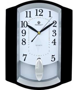 Zegar ścienny analogowy Perfect PW 016 ciemny brąz