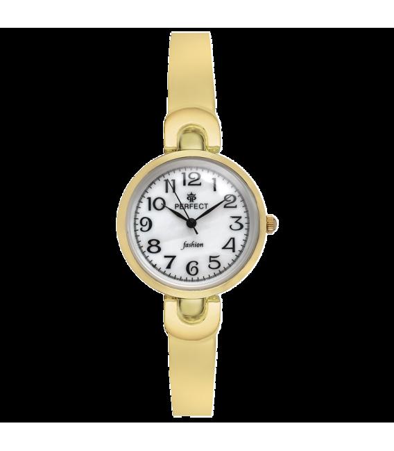 Zegarek Perfect A7001-14 GOLD SREBRNA TARCZA