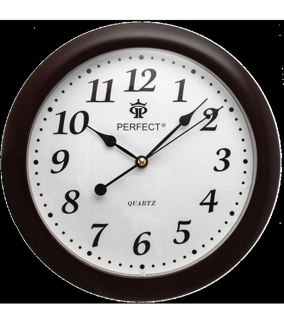 Zegar ścienny analogowy Perfect LA 17 Brązowy (połysk)