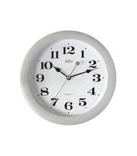Zegar ścienny analogowy Adler  LA 17 srebrny