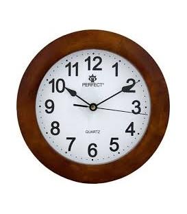Zegar ścienny analogowy Perfect PW 994 ciemny brąz