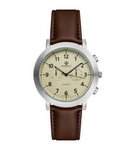 Zegarek Perfect G510 IPS PASEK BRĄZOWY TARCZA IVORY