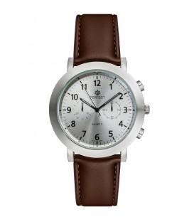 Zegarek Perfect G510 IPS PASEK BRĄZOWY TARCZA SREBRNA