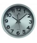 Zegar ścienny analogowy Perfect PW 192 srebrny srebrna tarcza Ø 30.5