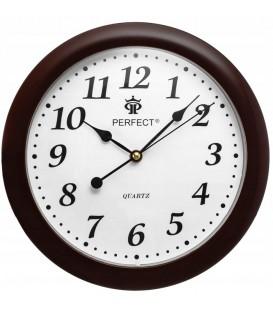 Zegar ścienny analogowy Perfect LA 17 Brązowy (mat) Ø 28