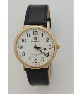 Zegarek Perfect B7380 IPG czarny  pasek biała  tarczą