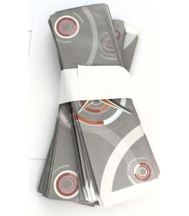 Opakowania papierowe pakowane po 100szt szare