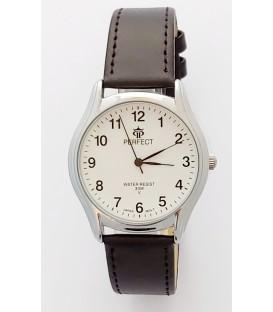 Zegarek Perfect pasek standard B7385 IPS biała tarcza szary pasek